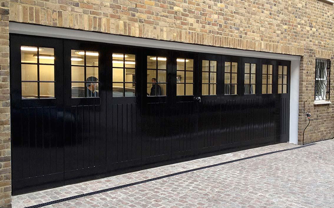 The London Mews Side Sliding Sectional Garage Door