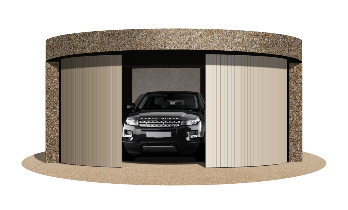 Ahead of the curve garage design